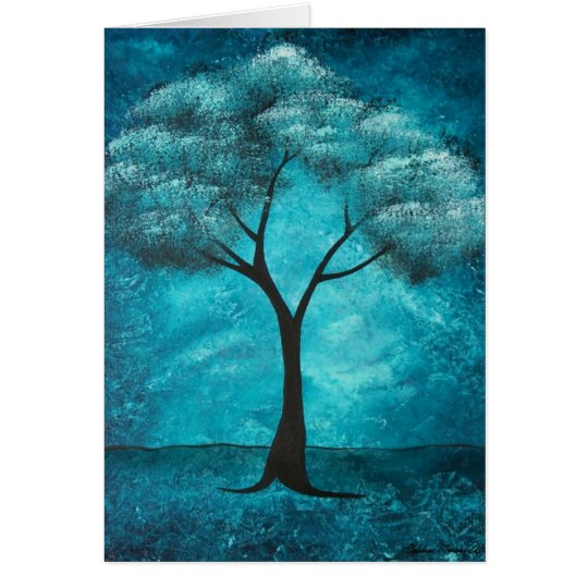 Blue Tree Sympathy Card
