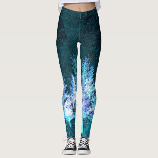 Blue trees leggings