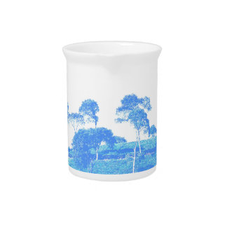 Blue Trees Pitcher