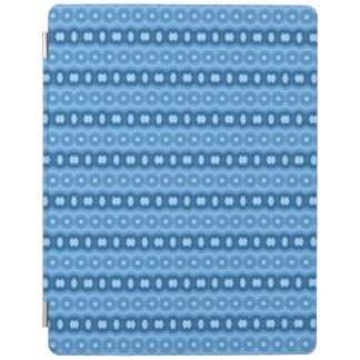 Blue trendy pattern iPad cover