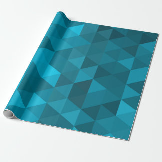 blue triangle background abstract geometry pattern wrapping paper