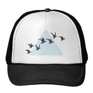 Blue Triangle Birds Cap