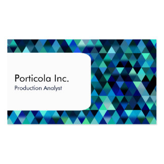 Blue Triangle Pattern Business Cards