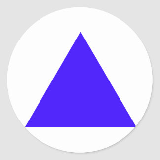 Blue Triangle Trans The MUSEUM Zazzle Gifts Stickers