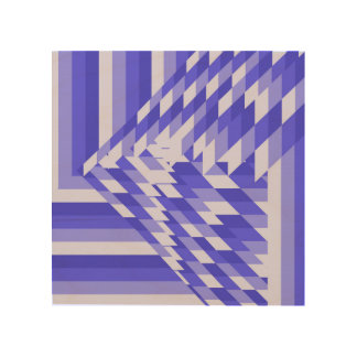 blue triangle wood print