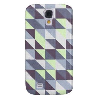 Blue Triangles Galaxy S4 Case