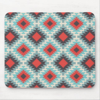 Blue Tribal Abstract Mouse Mat