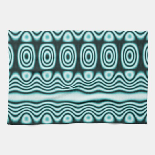 Blue Tribal Geometric Pattern Tea Towel
