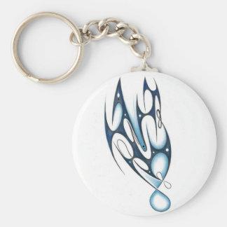 Blue tribal keychain