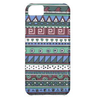 Blue tribal pattern iPhone 5C case