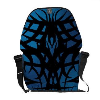 Blue Tribal Rickshaw Messenger Bag