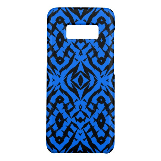 Blue tribal shapes pattern Case-Mate samsung galaxy s8