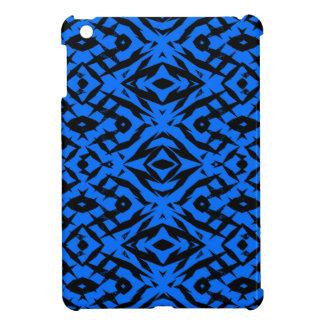 Blue tribal shapes pattern iPad mini covers