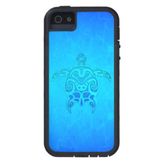 Blue Tribal Turtle iPhone 5 Case