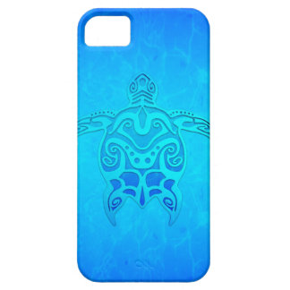 Blue Tribal Turtle iPhone 5 Cover