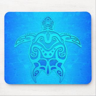 Blue Tribal Turtle Mouse Mat