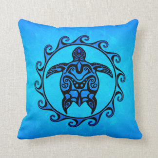 Blue Tribal Turtle Sun Cushion
