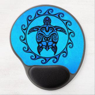 Blue Tribal Turtle Sun Gel Mouse Mat