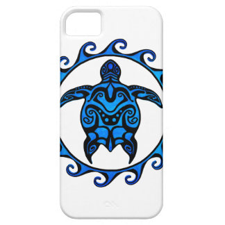 Blue Tribal Turtle Sun iPhone 5 Case