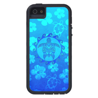 Blue Tribal Turtle Sun iPhone 5 Covers