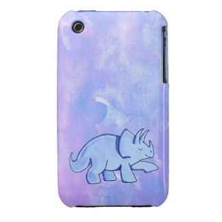 Blue Triceratops iPhone 3 Case