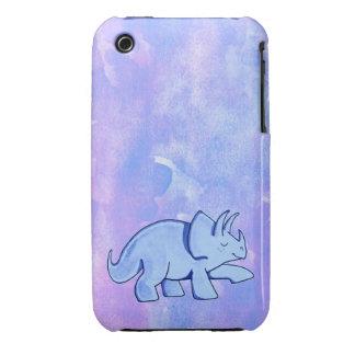 Blue Triceratops Case-Mate iPhone 3 Case