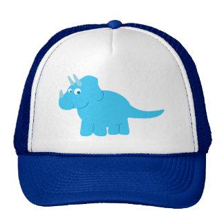 Blue Triceratops Dinosaur Cap