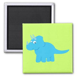 Blue Triceratops Dinosaur Magnet
