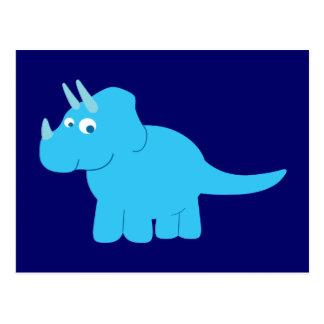 Blue Triceratops Dinosaur Postcards