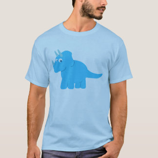 Blue Triceratops Dinosaur T-Shirt