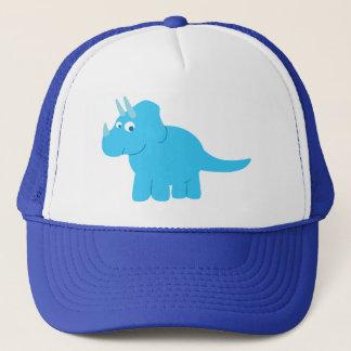 Blue Triceratops Dinosaur Trucker Hat