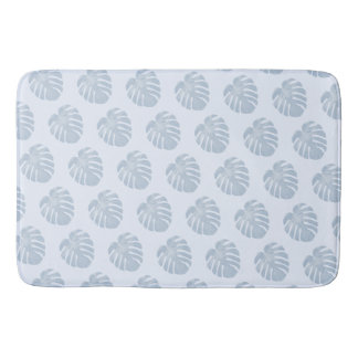 Blue Tropical Bath Mat