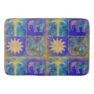 Blue tropical dream bath mat