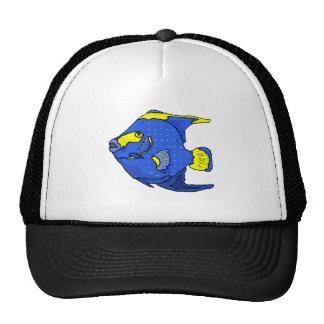 Blue Tropical Fish Mesh Hat