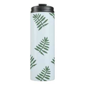 Blue Tropical Floral Thermal Tumbler