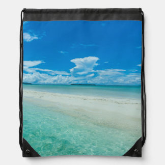 Blue tropical seascape, Palau Drawstring Bag