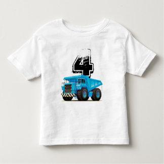 Blue Truck 4th Birthday Toddler T-Shirt
