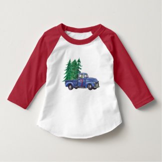 Blue Truck Christmas Birthday Shirt
