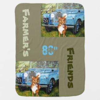 Blue Truck & Dog -Baby Blanket