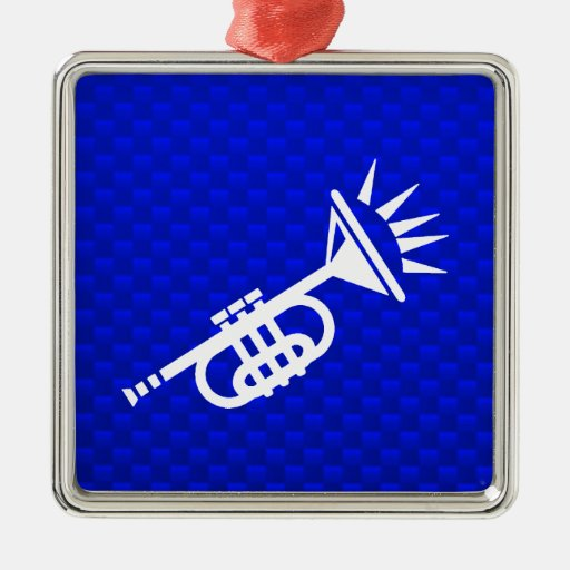 Blue Trumpet Ornament