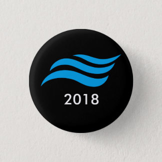 Blue Tsunami 3 Cm Round Badge
