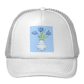 Blue Tulips blue Hat