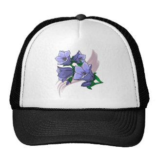 Blue Tulips on Plum Swirl Mesh Hat