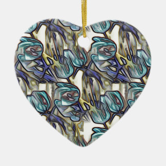 Blue Tulips Pop Art Christmas Ornament