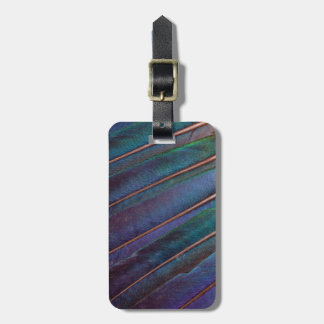 Blue Turaco Feathers Luggage Tag