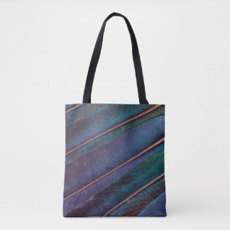 Blue Turaco Feathers Tote Bag