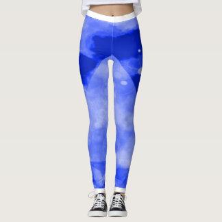 Blue Turbo Yoga Fitness Leggings