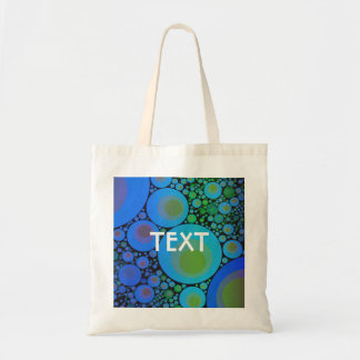 Blue Turquoise Abstract Pattern Tote Bag