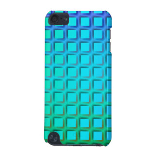Blue Turquoise and Green Squares Pattern iPod Touch (5th Generation) Cases