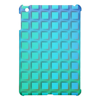 Blue Turquoise and Green Squares Pern iPad Mini Cover